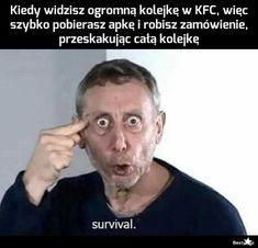BESTY.pl Polish Memes, Best Memes, Funny Photos, Funny Jokes, Haha, Humor, Survival, Fanny Pics, Husky Jokes