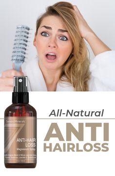 ANTI HAIRLOSS SPRAY Unblock hair follicles and naturally boost hair growth cycle. A natural and organic product for thinning hair and hair loss treatment for men and women. Hair Loss Cure, Oil For Hair Loss, Anti Hair Loss, Stop Hair Loss, Prevent Hair Loss, Home Remedies For Hair, Hair Loss Remedies, Magnesium Spray, Hair Growth Cycle