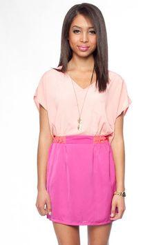Around the Color Block Dress in Pink $33 at www.tobi.com