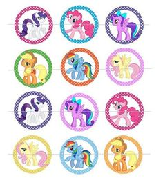 My Little Pony Magic 1-inch Circles Bottle Cap Images 4x6 sheet | Craftaholic - Graphics on ArtFire