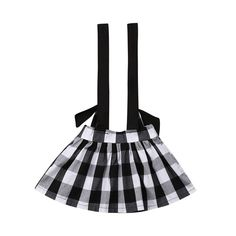 Black & White Plaid Overall Skirt from kidspetite.com!  Adorable & affordable baby, toddler & kids clothing. Shop from one of the best providers of children apparel at Kids Petite. FREE Worldwide Shipping to over 230+ countries ✈️  www.kidspetite.com  #girl #infant #newborn #baby #skirts