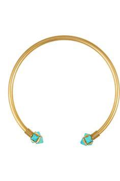 Elizabeth ColeGold-plated turquoise necklaceclose up