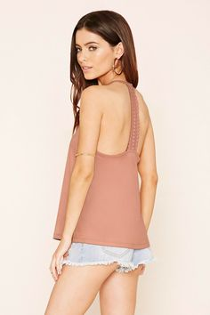 forever 21 Faux Suede Crochet Cami £9