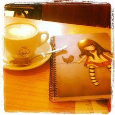 Gorjuss notepad and coffee
