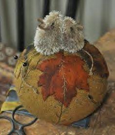 Autumn Leaf Mice by Lori Ann Corelis