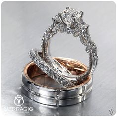 Not a fan of the men's band. ~Engagement Rings by Verragio Exquisite designs extraordinary rings. (Insignia-7074R by... Exquisite designs extraordinary rings. (Insignia-7074R by @verragio)~
