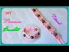 DIY Triple Spiral Knot Bracelet with Beads ★ Bracelet en spirale triple nœud avec des perles - YouTube