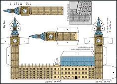 Resultado de imagen de paper models of big ben
