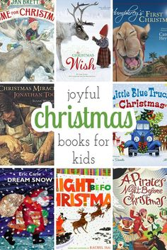 The best Joyful Christmas Books to add to your child's holiday book collection. Books make great gifts! Christmas Books For Kids, Christmas Gifts For Women, Christmas Activities, Christmas Wishes, Christmas Traditions, Christmas Themes, Christmas Fun, Holiday Fun, Celebrating Christmas