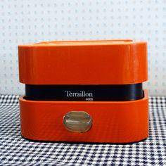 Balance ménagère Terraillon orange, années 70