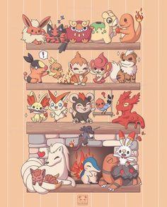 Fire Pokemon, Pokemon Eevee, Pokemon Comics, Pokemon Funny, Pokemon Fan Art, Pokemon Cards, Pokemon Backgrounds, Chihiro Y Haku, Cute Pokemon Pictures