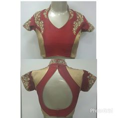 HIGH NECK BLOUSE FOR GHARCHOLA BY RANGOLI