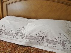 Antique Pillow Overlay Richelieu Embroidery Gorgeous