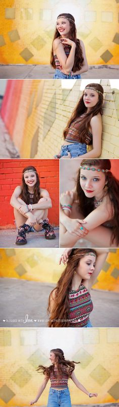 Color, movement, boho-chic styling, and the most natural poses. This Sweet 16 session in Deep Ellum remains one of my favorite sessions! | Dallas portrait photographer | copyright Love, Me Photography www.lovemephotography.com