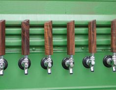 46 Oregon Black Walnut tap handle it measures 6  tall by 1  wide, and 1 thick. The perfect gift for a homebrewer, a handcrafted hardwood