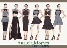 Auriele (desenhos de Moda): Total Jeans