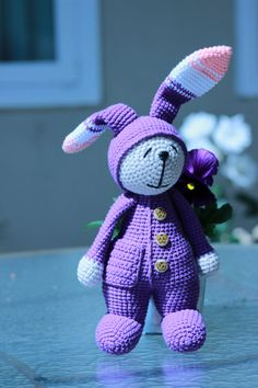 Easter Bunny  12 inches  30 cm by Chutchuboutique on Etsy