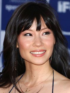 Lucy Liu tousled bangs: http://beautyeditor.ca/2014/06/06/best-bangs-for-square-face/