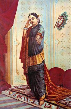 Reprints of Raja Ravi Varma Paintings: Vasantasena Arte Shiva, Shiva Art, Krishna Art, Hindu Art, Ravivarma Paintings, Indian Art Paintings, Woman Painting, Artist Painting, Famous Indian Artists