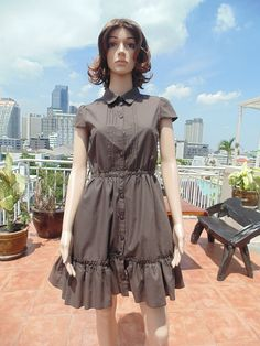 Fancy Vintage Classic Button Down Collar Short Sleeve Party Dress   $14.00 USD Only 1 available  https://www.etsy.com/listing/187491550/fancy-vintage-classic-button-down-collar?ref=shop_home_active_10  https://www.facebook.com/pages/Savvy-Ladies/796694807024977