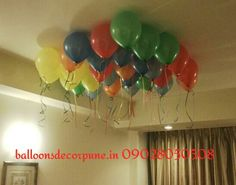 Helium Balloons Ceiling Decoration Helium Gas, Helium Balloons, Balloon Ceiling Decorations