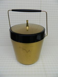 Retro Barware Gold Ice Bucket Craft Storage Bar by ProjectRetro, $18.00