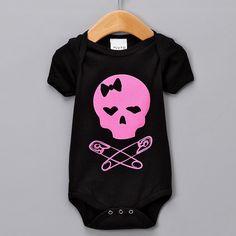 Baby Skulls pink onesie. via Etsy.