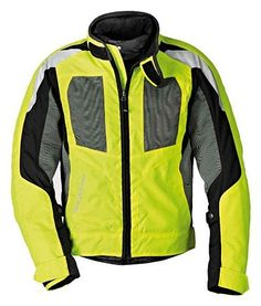 BMW Genuine Motorcycle Men'S Airshell Jacket EU-56 |USA-46 Neon Yellow / Gray. For product info go to:  https://www.caraccessoriesonlinemarket.com/bmw-genuine-motorcycle-mens-airshell-jacket-eu-56-usa-46-neon-yellow-gray/