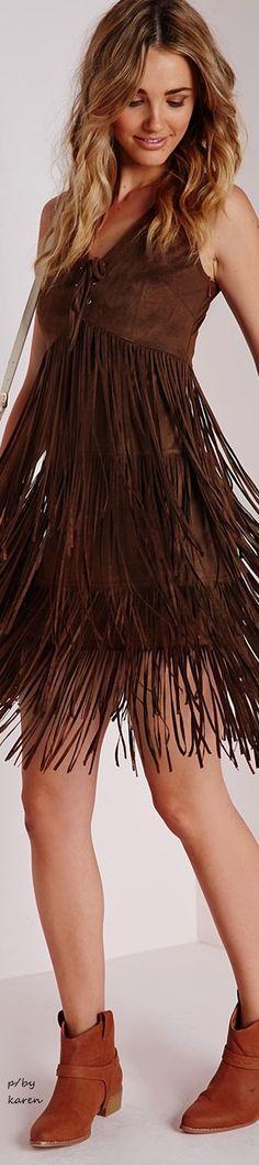 @roressclothes closet ideas #women fashion brown dress