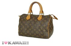 Authentic Louis Vuitton Monogram Speedy 25 Bag Hand Purse Boston Free Shipping!