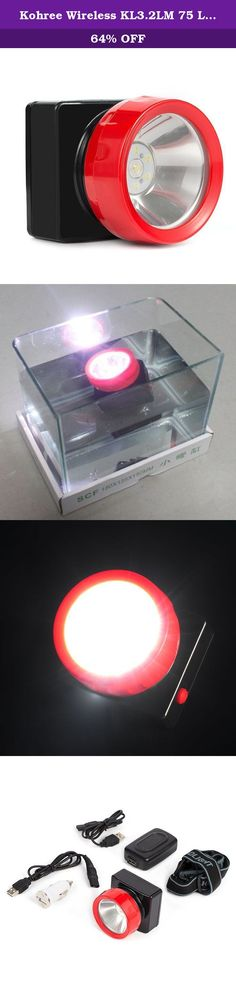 Kohree Wireless KL3.2LM 75 Lm LED Spot Light Head Lamp for Coal Mining, Hunting, Fishing, Camping, Waterproof 4500Lux 3200mAh. Specification: Model: KL3.2LM Composition of the model and their meanings: K--Mining Safety Lamp ; L--Li-ion capacity battery 3.2--Rated capacity ;L--LED Light source M--Maintenance free Technical Data for LED Mining Lamp KL3.2LM: 1,Rated voltage: 3.7V 2,Rated Capacity: 3.2Ah 3,Charging Time: 6 Hour 4,Lighting time: Principal:15hour Auxiliary:40hour…
