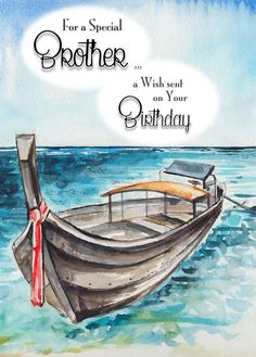 Birthday Wishes For Brother, Happy Birthday Meme, Birthday Messages, Blue Birthday, Blessing Message, Birthday Blessings, Family Birthdays, Kind Words, Paper Goods