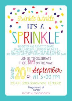 Any Color BABY SPRINKLE BURLAP Couples Pink Teal Having One More Baby Shower Bbq Barbecue Sprinkles 1st 2nd 3rd Surprise Birthday Invitation twinkle twinkle its a sprinkle diapers bibs outfit or two