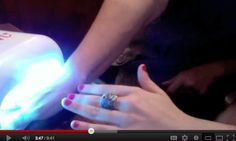 Just 2 mins under our UV lamp and your nails are 100% dry!