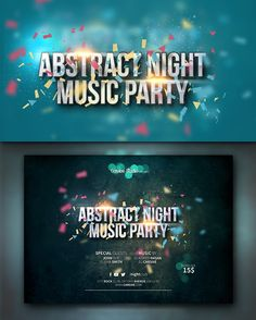 Horizontal party flyer template