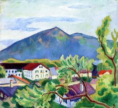 Spring Landscape In Tegernsee by August Macke Handmade oil painting reproduction on canvas for sale,We can offer Framed art,Wall Art,Gallery Wrap and Stretched Canvas,Choose from multiple sizes and frames at discount price. August Macke, Franz Marc, Wassily Kandinsky, Paul Klee, Cavalier Bleu, Maurice De Vlaminck, Blue Rider, Ecole Art, Spring Landscape