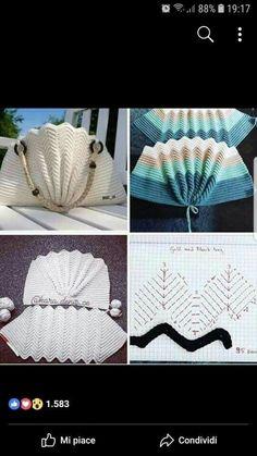 Marvelous Crochet A Shell Stitch Purse Bag Ideas. Wonderful Crochet A Shell Stitch Purse Bag Ideas. Free Crochet Bag, Crochet Shell Stitch, Crochet Tote, Crochet Handbags, Crochet Purses, Crochet Stitches, Knit Crochet, Knitting Patterns, Crochet Patterns