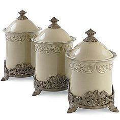 Chris Madden® Corvella set of 3 Canisters - jcpenney