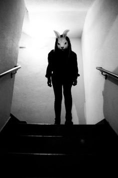 Bunny Man on Staircase