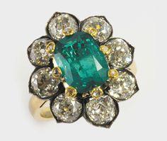 Anello con smeraldo colombiano di ct 3ca