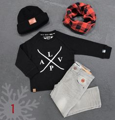 Skateboard Beanie: SF Series - Black / Scarf: Infinity - Lumberjack /  Jersey: Classic / Pants: Skinny Cut - Grey *L&P exclusive*