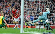 Aaron Ramsey he does it again for Arsenal.