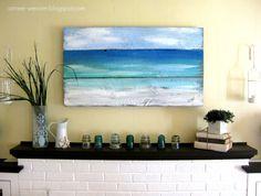 Pintura puerta de granero de madera inspirado en playa