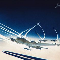 the_ww2_memoirs A formation of B-17 Flying Fortresses part of the 390th Bomber Group, 13th Combat Bombardment Wing, 8th Air Force, fly over enemy territory with their P-47 fighter escorts leaving vapor trails in the sky, 27th of September, 1943. Bring a bomber pilot of crewman was no easy task during the Second World War. Every day you risked your life as you went up into the sky and the odds were that you were not going to be returning back to base. The average lifespan of the crew of a…