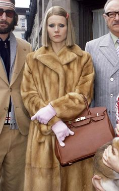 "Gwyneth Paltrow as Margot Tenebaum from ""The Royal Tenenbaums"". SIGNATURE HERMES BAG"