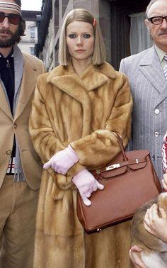 "Gwyneth Paltrow as Margot Tenebaum from ""The Royal Tenenbaums"". SIGNATURE HERMES BAG"