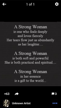 One strong woman please. Haha.