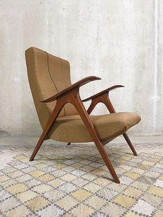 Mid century Scandinavische lounge fauteuil vintage arm chair Danish |
