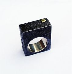Block black ring by J.Trimay - SAShE.sk - Handmade Prstene