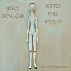Made from the jointed cloth doll pattern. A Jane Austen style doll. Doll Sewing Patterns, Doll Clothes Patterns, Handmade Dolls Patterns, Fabric Doll Pattern, Fabric Dolls, Paper Dolls, Softies, Clay Dolls, Doll Toys